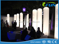 outdoor decorative columns/inflatable led column light/illuminated inflatable column for party