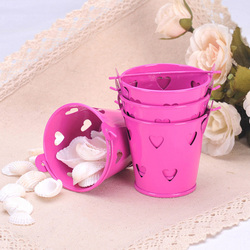 Galvanised Metal Mini Pail Bucket Candy Favor Box Wedding Party Gift Box