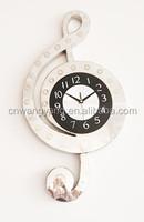 Music shape metal wall digital clock