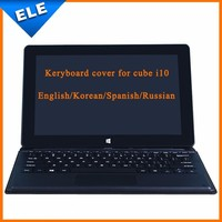 Original English,Korean,Russian,Spanish Keyboard Cover Case for Cube I10 Dusl OS/Boot Tablet pc