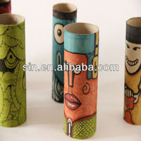 Melon yellow round paperboard tube