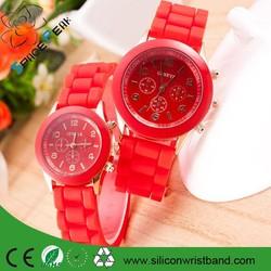 Promotion gift custom design silicone geneva watch