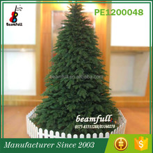 wholesale PE tips plastic outdoor artificial christmas tree decorations