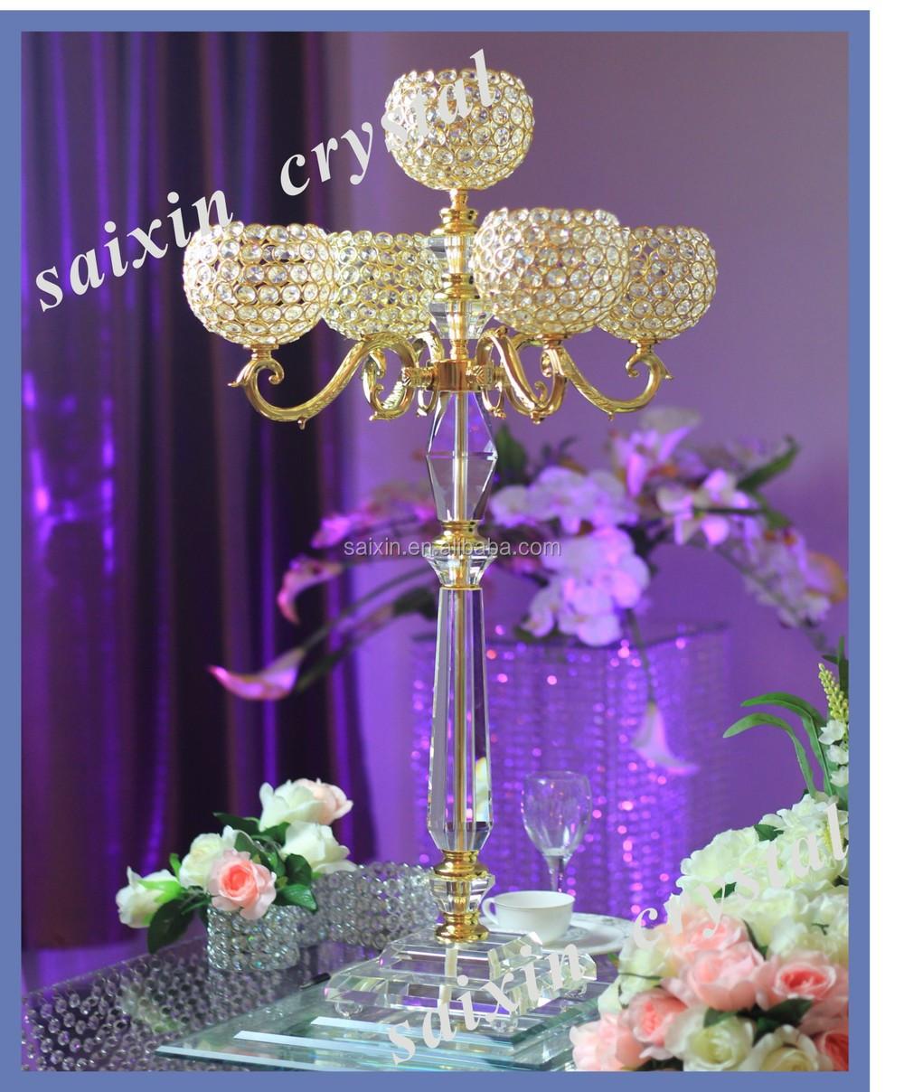 Crystal candelabra flower stand for wedding centerpiece buy more junglespirit Choice Image