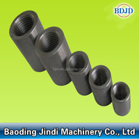 standarded type upsetting end rebar coupler 45# carbon steel rebar connecting coupler in construction