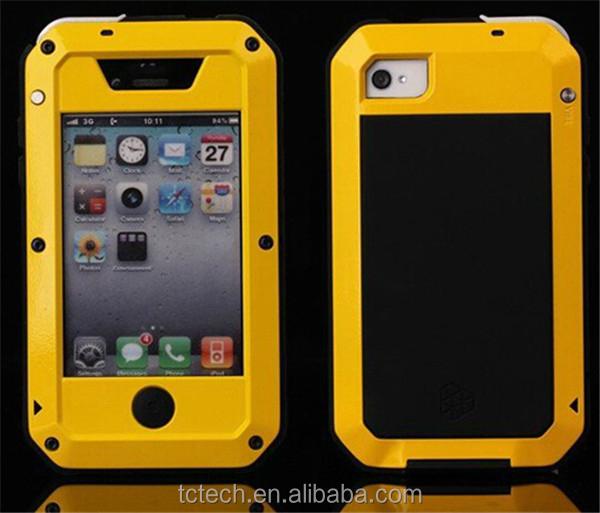 Hot selling gorrila glass aluminum metal waterproof case for iPhone 5