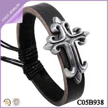 pulsera de cuero barato hecho a mano pulseras de nuevos modelos