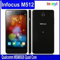 Original Foxconn Infocus M512 4G FDD LTE 5 Inch HD IPS MSM8926 Quad Core Android 4.4 Mobile Cell Phone 1GB RAM 4GB ROM GPS