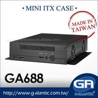 GA688 mini itx economical thin client pc case
