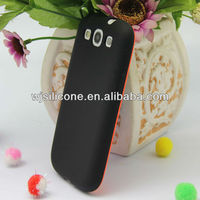 Two colors mould design case for galaxy s3 skin cover