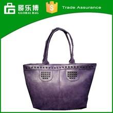 2015 Wholesale Ladies Shoulder PU Rivet Handbags Woman Bags