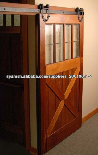 Madera herrajes para puertas correderas de acero puertas - Puerta corredera de madera ...