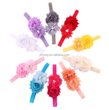 2015 wholesale Baby Toddler Infant Flower Headband with Pearl Hair Bow Band Accessories