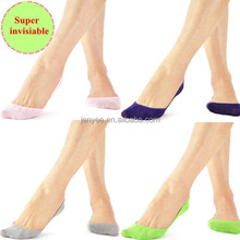 New technology super high quality custom combed cotton invisible socks lady, lady sock, lady tube socks