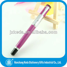 New design metal click action metal ballpoint pen making kits with soft grip