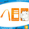 Wholesale Cute Standard Size Jelly Soft PVC Luggage Tags