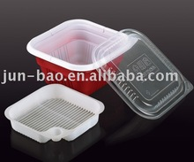 Disposable plastic food container for food take away and microwave, lunch box