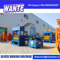 CHINA WANTE MACHINERY Easy handling block making machinery for cement blocks and paving bricks from china supplier
