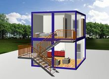 2015 CE NEW flat roof house plans