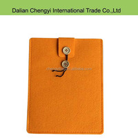 Factory price solid color button closure small felt laptop bags