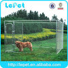 LARGE CHAIN LINK 7.5'x13'x6' DOG KENNEL PET PEN FENCE OUTDOOR