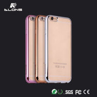 Glossy Shining Soft TPU Case for iPhone 6s,Plating TPU Ultra Thin Cellphone Case for iPhone 6