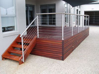 Classic stainless steel stairs railing for house project