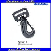 black single-swiveled hooks buckles plastic buckles SBS buckles GHB014