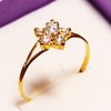 21k solid gold rings handmade pure gold 875