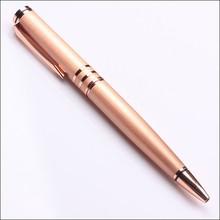 rose orange barrel luxury presents metal body ballpoint pen wholesale price