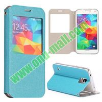 Quicksand Texture Magnetic Flip Leather cover case for samsung galaxy S5 i9600