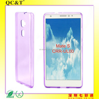 Clear Transparent Case Without Texture Soft TPU Mobile Phone Cover For Huawei Mate S