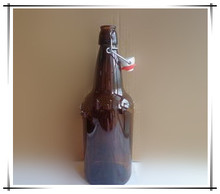 High Quality 1 liter Amber Swing Top Glass Beer Bottle