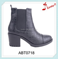 Special design woman high quality insolent work elastic band motorcross mid heel boots