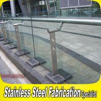 Floor Mounted Glass Fixing Stainless Steel Outdoor Banister