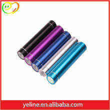 mini cylinder round power bank power supply for travel