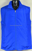 100% polyester high visibility sleeveless working vest