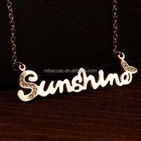 2015 Fashion Gold Jewelry 316 L Stainless Steel Ceramic Necklaces