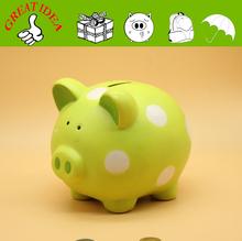Best - seller dots conception de porc. Tirelire en céramique