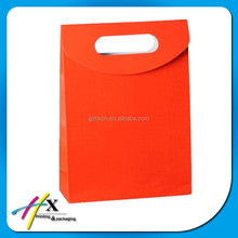 Good quality orange paper bag for gifts