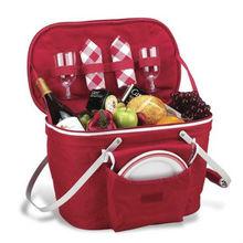 aluminum framed insulated picnic cooler basket set