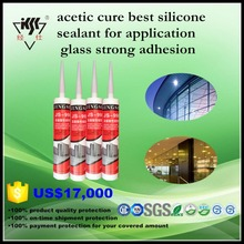 acetic cure best silicone sealant for application glass strong adhesion