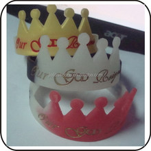 crown shape silicone bands /promotion gifts