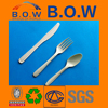 100% biodegradable disposable plastic silver cutlery with colorful hand flatware set