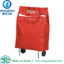 Red Society Shopping/Travel Rolling Tote Bag / wheels