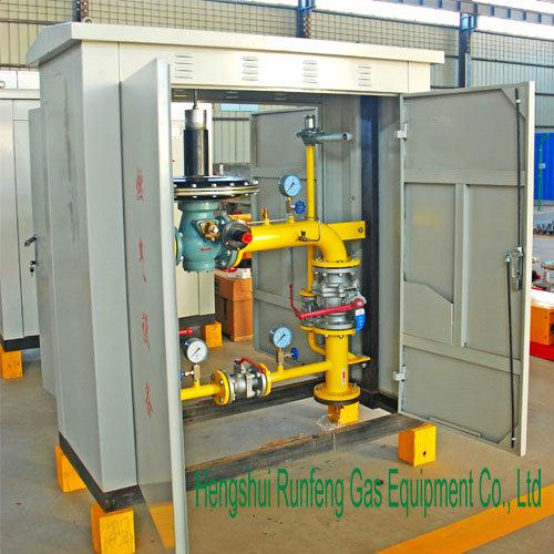 Gás regulador de pressão e estação de medição/redutor de pressão da estação