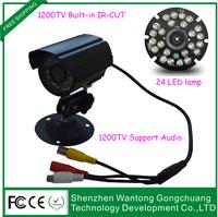 "1/2.5"" SONY cmos 1200tvl cctv camera 3.6mm lens day/night vision surveillance with audio"