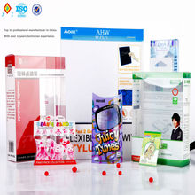 clear plastic pet,pvc,pp folding box shenzhen packaging company