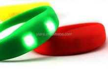 Silicone Sound activated led bracelet with 2pcs brightness led