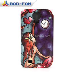 3d sublimation Leather cheap mobile phone case for Samsung S4 full size printing Sublimation Phone Case